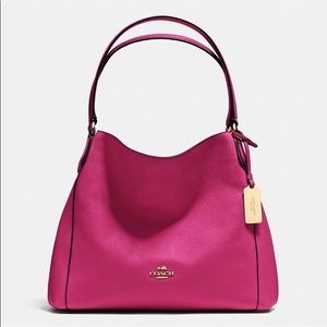 Coach Edie 31 Refined Pebbled Leather